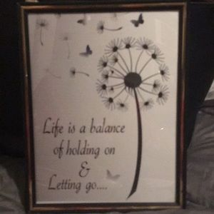 Life quotes 8 by 10 framed picture